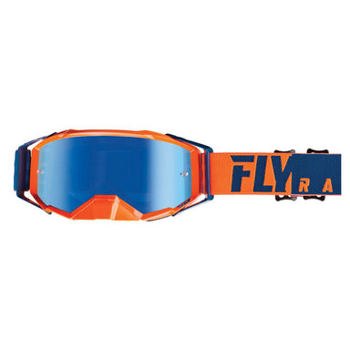 Fly Racing Zone Pro Goggle Orange/Blue by Alpine Powersports