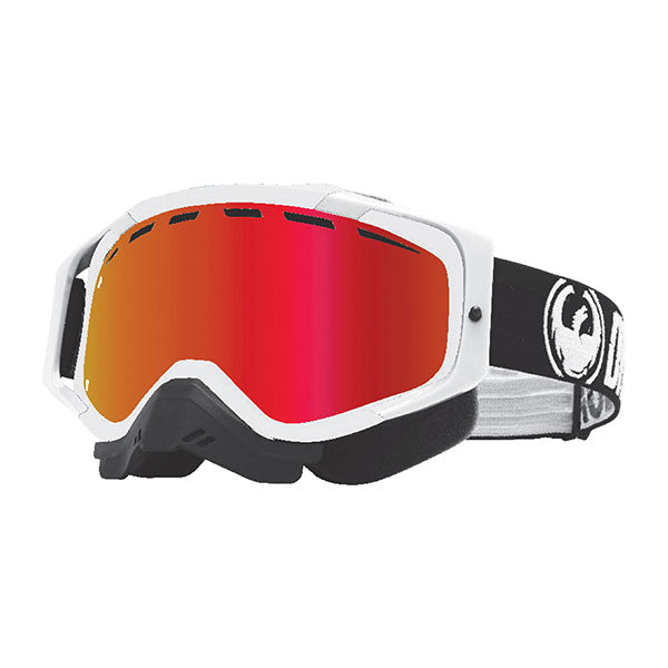 Dragon MXV MAX White/LL Red ION Snow Goggles by Alpine Powersports