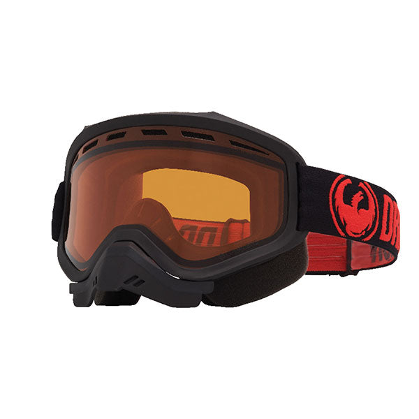Dragon MXV Red/LL Amber Snow Goggles by Alpine Powersports