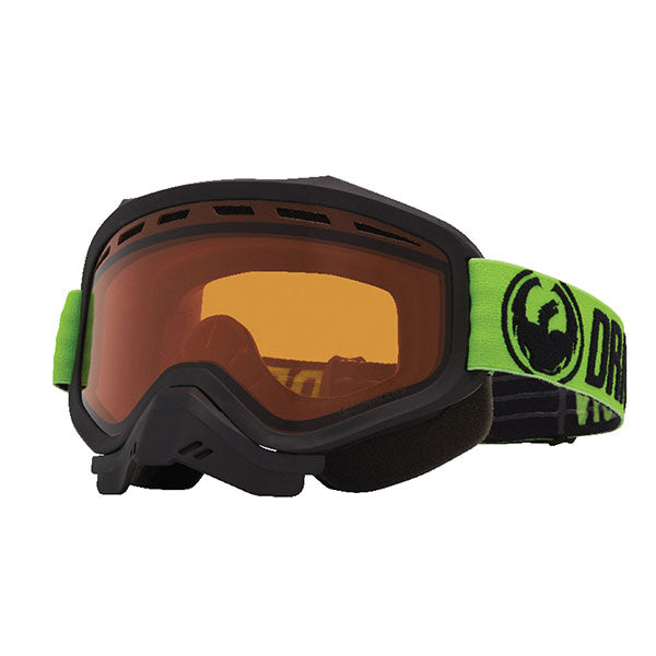 Dragon MXV Green/LL Amber Snow Goggles by Alpine Powersports