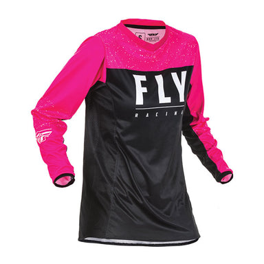 Fly Racing Women's Lite Jersey Blue / Pink / Black