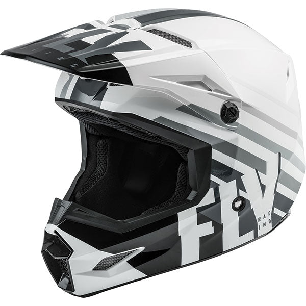 Fly Kinetic Thrive Youth Helmet Black/White by Alpine Powersports