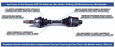 GSP HD Complete CV Axle - Can-Am Commander Rear 2016-2019