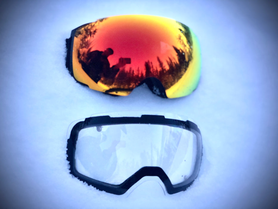 Electro-Vert 3.0 Heated Snowmobile Goggles with Magnetic Lens
