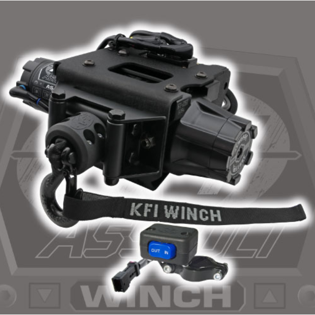 KFI AssaultSteel Cable Winch Kit - Polaris ATV by Alpine Powersports
