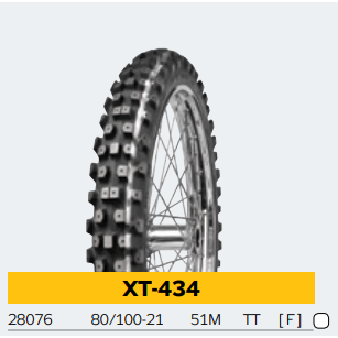 Mitas XT-434 Front Studded Winter Friction Motorcycle Tire (240 studs)