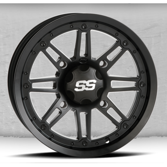 "ITP SS216 Black OPS Wheel (Rim) 12x7"" - 4/110 - (5+2 Offset for IRS)"