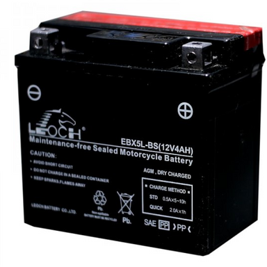 EBX5L-BS Youth ATV / Motorcycle AGM Battery by Alpine Powersports