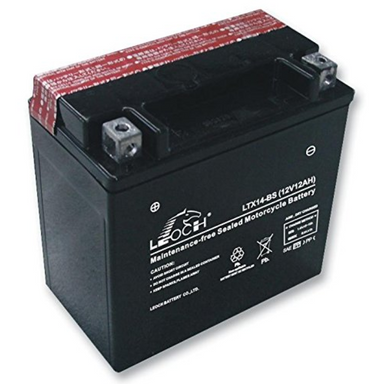 EBX14-BS ATV / Motorcycle AGM Battery by Alpine Powersports