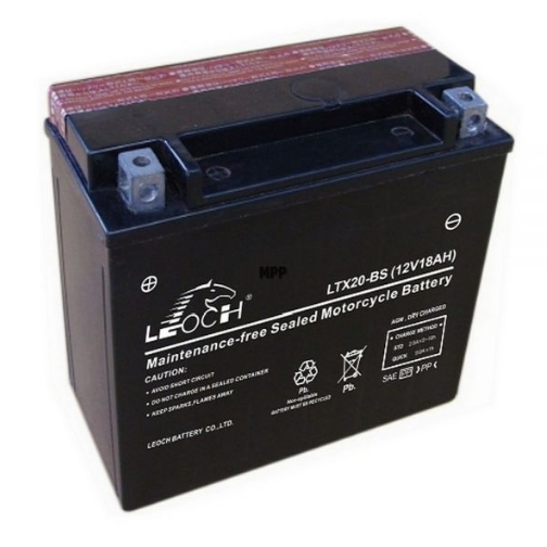 EBX20-BS ATV / Motorcycle AGM Battery by Alpine Powersports