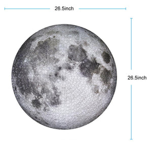 1000 Piece Moon Round Jigsaw Puzzle