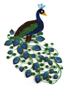 Paper Quilling Art Kits Color Peacock Patterns BQ90021