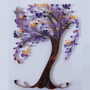 Paper Quilling Art Kits Color Tree  BQ90044