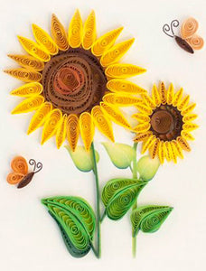 Simple Paper Quilling Art Kits Sunflower Patterns BQ90045