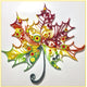 Paper Quilling Art Color Maple Leaf Patterns BQ90066