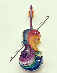 Paper Quilling Art Kits Color Violin Patterns BQ90068