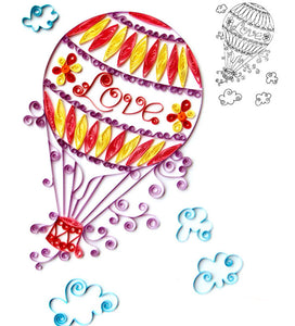 Paper Quilling Art Color Hot Air Balloon Patterns BQ90088
