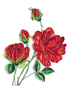Paper Quilling Art Kits Red Flower Patterns BQ90185