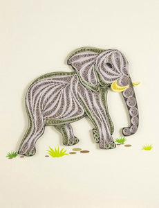 Simple Paper Quilling Art Elephant BQ90347