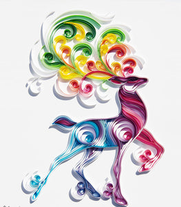 Paper Quilling Art Color Deer Patterns BQ90377