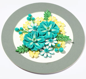 Paper Quilling Card Art Kit Flower Patterns BQ90431