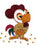 Paper Quilling Art Kits Color Rooster Patterns BQ90516