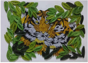 Paper Quilling Art Kits Color Tigers Patterns BQ90542