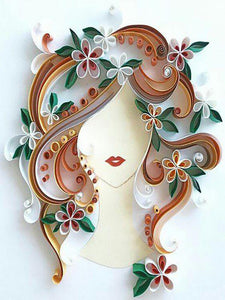 Special Paper Quilling Art Girl Patterns BQ90569