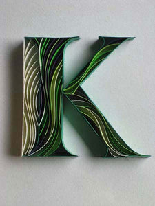 Paper Quilling Art Kit Alphabet K Patterns BQ90642