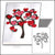 Paper Quilling Art Red Heart Tree Patterns BQ90721