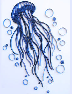 Paper Quilling Art Kit Blue Jellyfish Patterns BQ90744