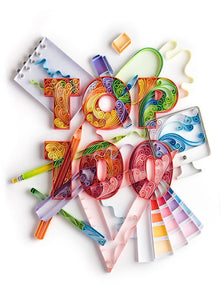 Paper Quilling Art Kits Color Top 100 Alphabet BQ90775
