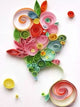 Paper Quilling Art Color Flower BQ90785