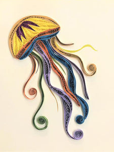 Paper Quilling Art Kit Color Jellyfish Patterns BQ90808