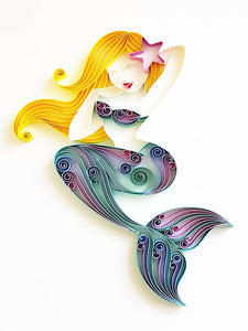 Paper Quilling Art Color Mermaid Patterns BQ90861