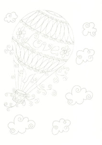 Paper Quilling Art Color Hot Air Balloon Patterns BQ90755