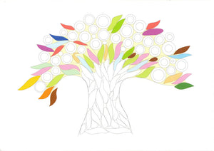 Paper Quilling Art Kits Color Tree Patterns BQ90284