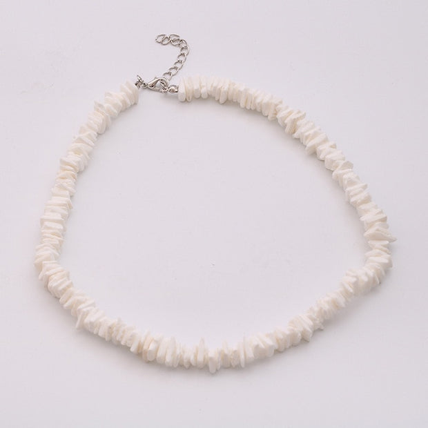 Puka Shell Necklace and Bracelet for Women