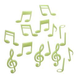 1 Pack Luminous Musical Note Stickers Glow In The Dark Stars Stickers Glow Party Supplies For Kids