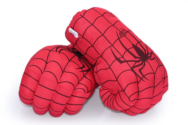 1 Pair 13'' 33cm Spider Man Gloves Hot Sale Incredible Hulk Smash Hands or Spider Man Plush Gloves Toys Good for Gifts