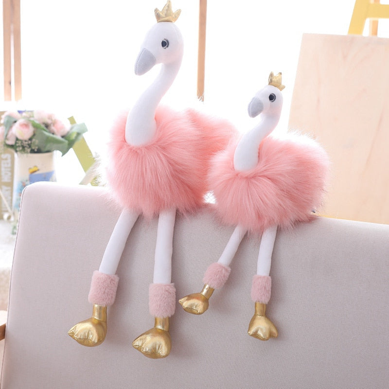 Flamingo Stuffed Animal Plush Soft Doll Toy Birthday Gift For Children Kids Baby