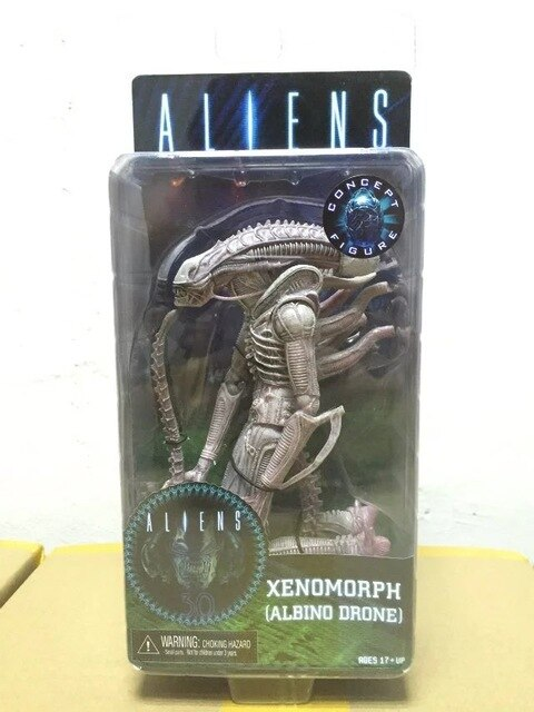 3 Styles NECA ALIENS Series 9 Xenomorph Albino Drone Private Ricco Frost Jenette Vasquez PVC Action Figure Collectible Model Toy