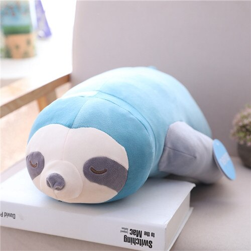 65/80/100CM Big Cute Simulation Stuffed Sloth Toy Plush Sloths Soft Pillow High Quality Animal Dolls Kids Baby Birthday Gift