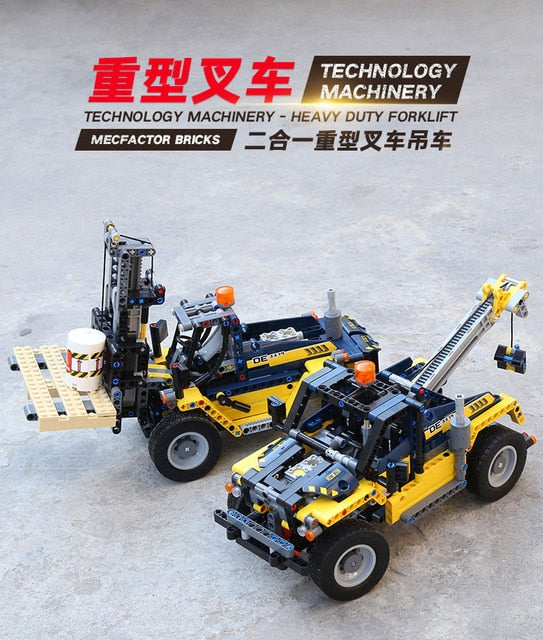 827pcs Decool Technic 2in1 Compatible legoly 42094 Technic Tracked Loader city model building blocks bricks boys Toys childrens