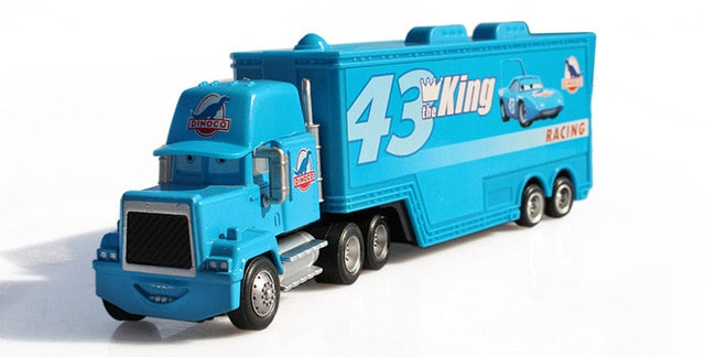 Disney Cartoon Cars Pixar Cars NO.43 Mark Truck The King Diecast 1:55 Metal Toy Car Model Children Toy Lightning McQueen