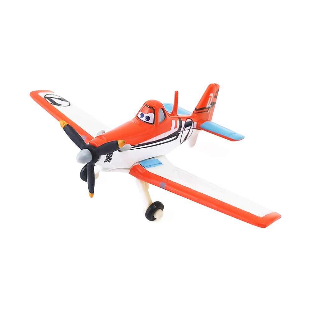 Disney Pixar Planes No.7 Dusty Crophopper Metal Diecast Toy Plane 1:55 Loose New In Stock & Free Shipping