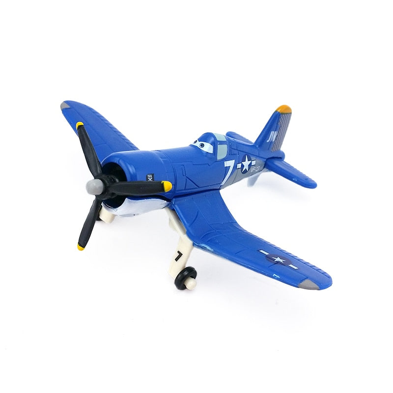 Disney Pixar Planes No.7 Skipper Metal Diecast Toy Plane 1:55 Loose New In Stock & Free Shipping