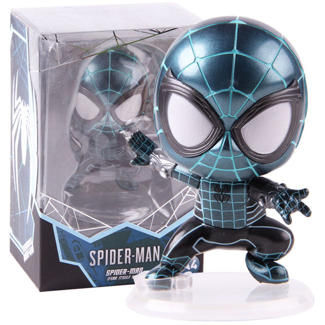 Hot Toys Avenger Cosbaby Spiderman Fear Itself Suit Bobble Head Avenger Spider Man Action Figure Collectible Model Toy