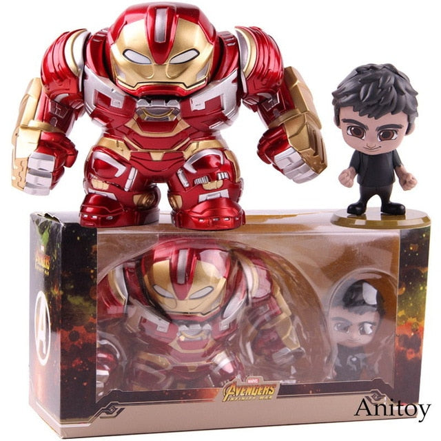 Hot Toys Cosbaby Avengers Infinity War Hulkbuster & Bruce Banner Action Figure Marvel PVC Collectible Model Toy 2pcs/set