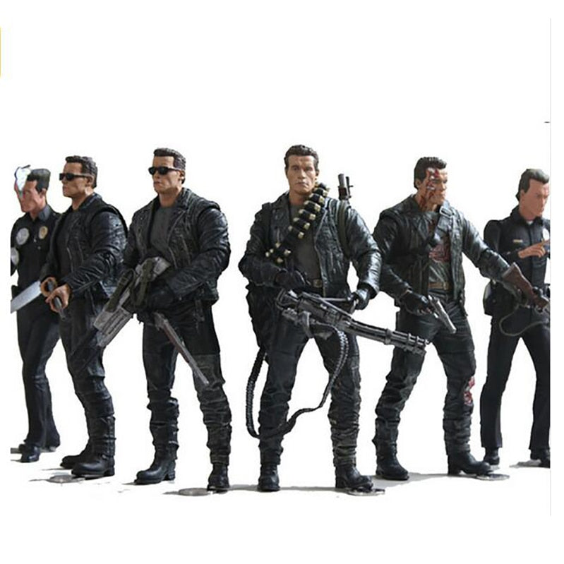 The Terminator 2 T-800 T-1000 7 Types PVC Action Figure Collectible Model Toy